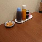 弥次喜多 - 料理写真:テーブルの卓上