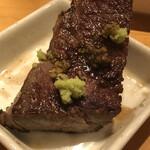 和牛焼肉 Beef Factory73 - サブトンはわさび醤油で