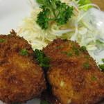 立呑み倶楽部 - 牡蠣のクリームコロッケ350円