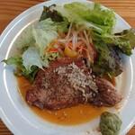 ミレピーニランチョ - 料理写真:霧降高原豚のポークソテー パンとライスの食べ放題セット2,210円