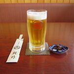 鰻作 - オリオン生ビール(500円)
