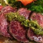 竹琳 - 牛肉たたきアップ