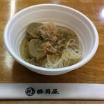 勝男屋 - 料理写真:黒はんぺんのつみれ、糸こんにゃく、大根