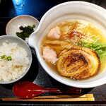 125642134 - 銀笹らーめん・塩(¥850)+半鯛飯(¥200)