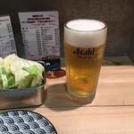 串カツ ほおかむり - とりあえず生ビール