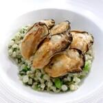 ランタン・ルージュ - 牡蠣のポアレ大麦のリゾット