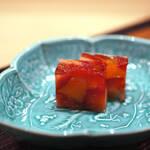 """125654514 - 【餜子(あまみ)】、草莓(いちご)と橘(たちばなのみ)の""""果凍(にこゞり)"""""""