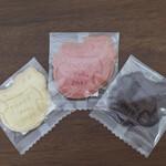 サンキュー ベイク - ワニさんクッキー プレーン イチゴ ココア☆