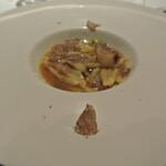 リストランテ カノフィーロ - 宮崎産地頭鶏のスープ仕立て トローフィエ