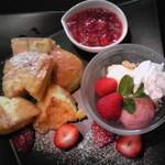 やまなみ珈琲店 - 苺プレート~フレンチトースト♪