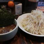 荒海 - 濃厚醤油つけ麺(麺中盛+野菜中盛)