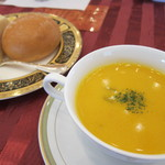 桔梗が丘ヴェルージュ - 料理写真:パスタコース・スープ&パン