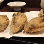 幅屋 - 料理写真:牡蠣天3個 やっぱ美味しいな~(^^♪