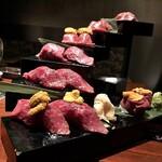 125691792 - 天空の肉寿司階段税抜9800円