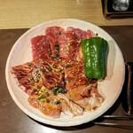 備長炭焼肉 てんてん - 料理写真:ランチトリオ 1080円