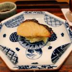 鮨 北新地 きぐら - しまあじの柚庵焼き チーズ入りマッシュポテト