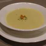 レストランあんどう - セットのコーンクリームスープ
