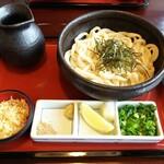 うどん本陣 山田家 - 釜ぶっかけ(卵なし) ¥880