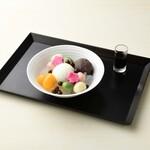 FUMUROYA CAFE  - 麩あんみつ 豆乳アイスのせ