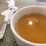 松榮亭 - 先出しスープ美味しい。