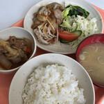 きよっち食堂 - 料理写真:豚の香味ソース定食 550円