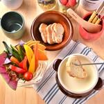 茜の庭 - ミニパフェチーズフォンデュ