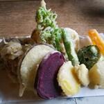 そば. けいた - 旬野菜天ぷら