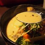 イエロー - チキン野菜カリー(スープ)