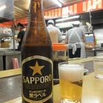 本店 鉄なべ - ビール(中瓶) 550円(税込)