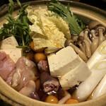 とり割烹 赤坂 いし井 - 鶏すき焼き