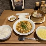 包子 - 麻婆豆腐ランチセット(¥1000)