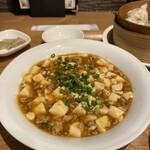 包子 - 麻婆豆腐。辛味は抑えてありました。