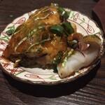 広島風お好み焼 鉄板焼き 花火 - イカがプリプリで美味い