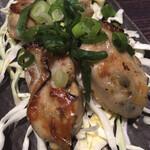 広島風お好み焼 鉄板焼き 花火 - 「(広島産)牡蠣のバター炒め(4個)」@800