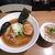 はちどり - にぼしラーメン+ミニ丼セット(950円)
