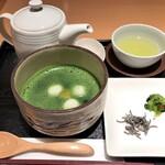 田頭茶舗 - 抹茶ぜんざいデザートセット お茶はこちらだけでいただける喜作