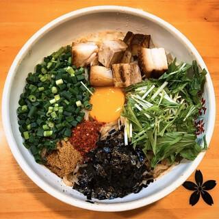 麺場 花道 - 料理写真:まぜそば大盛り 野菜増し