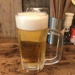 SAPPORO餃子製造所 - 1杯目 生ビール(中)(500円)