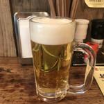 SAPPORO餃子製造所 - 2杯目 生ビール(中)(500円)