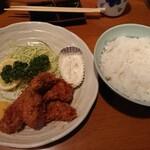 いわさき - 季節限定・牡蠣フライ定食。