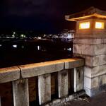 Hayashi - 出町橋からの風景。(夜)