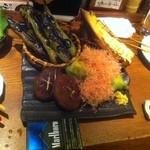 こころむすび - 炙り野菜盛り合わせ 3520円