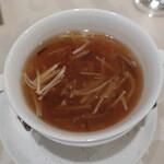 銀座楼蘭 - フカヒレ入りスープ