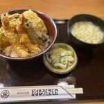 そうかわ - 天丼+みそ汁+お新香