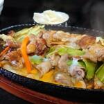 125780354 - 豚肉じゅうじゅう焼定食@¥850