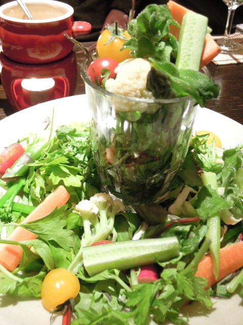 花様 南船場 - 近江野菜パフェ&バーニャカウダ ¥1350