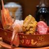 Morimorisushi - 料理写真:もりもり三点盛(1,300円)本鮪大トロ、生ウニ、ボタン海老