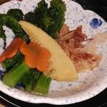 サガミ - 菜の花と筍の辛し和え