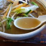 麺や一発 - スープ