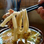 うどん屋 源さん - 肉天わかめ(特濃煮干し味) 770円